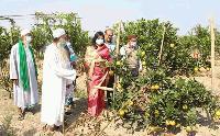 শেরপুরে ফলজ বাগান পরিদর্শন করলেন জেলা প্রশাসক আনার কলি মাহবুব